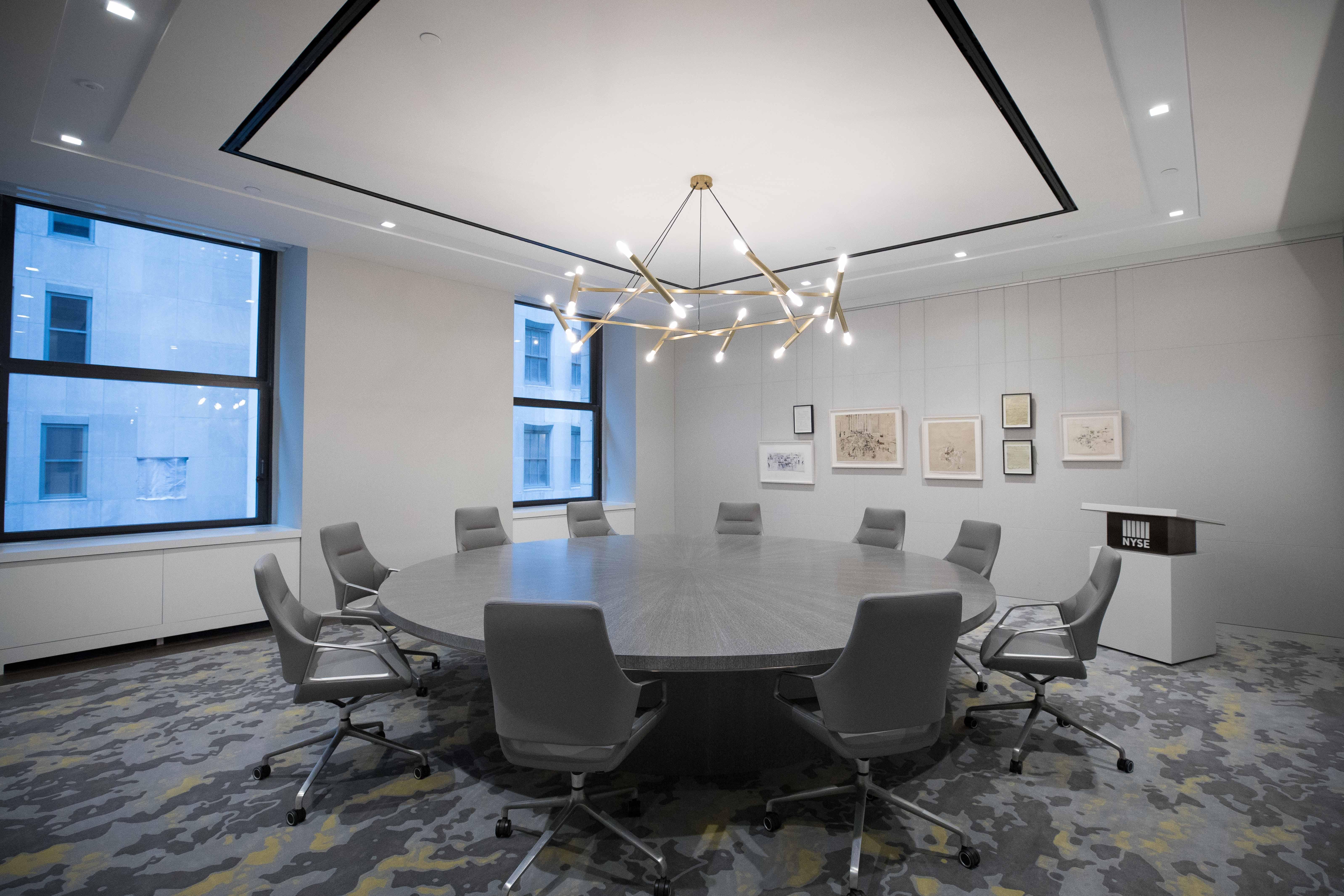 NYSE Event Space Clerk's Work Room