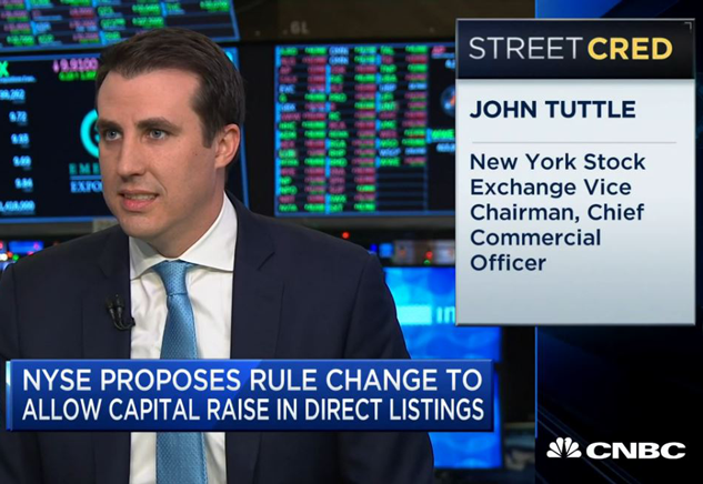 John Tuttle discusses Direct Listing on CNBC