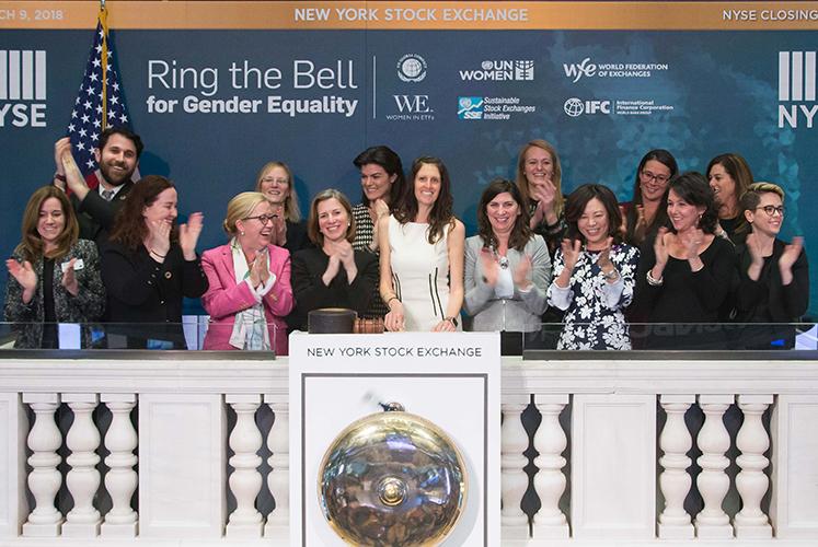 women in etfs ring the closing bell
