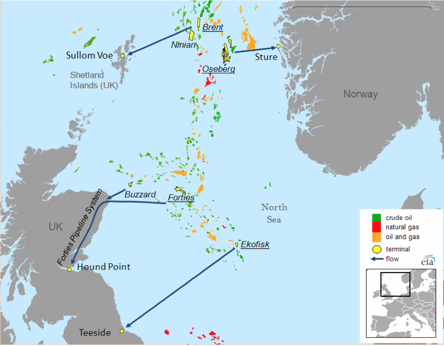 Map Of Uk Oil Fields.North Sea Oil A Resurgent Benchmark Basin